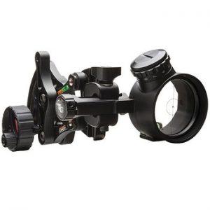 single pin adjustable bow sight