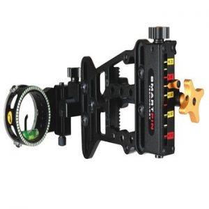 bow sight single pin adjustable